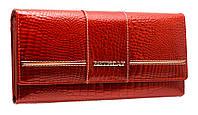 Классический кошелек из лаковой кожи AE045 red