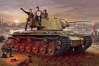 Советский танк  КВ-1 1942г (литая башня)  1/35