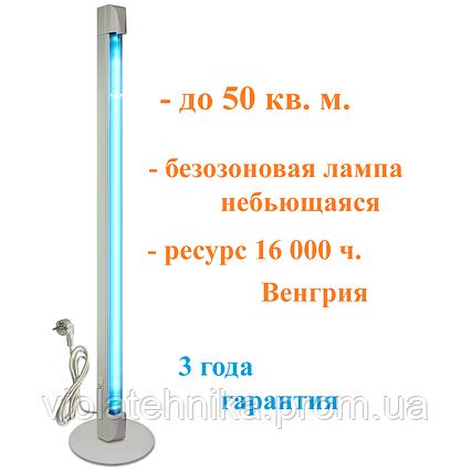 Облучатель бактерицидный бытовой кварцевая лампа OBB 36P ECO  безозоновая Венгрия небьющаяся 16000ч, фото 2