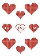 НФ-019. Сердечка на фетрі для вишивки бісером