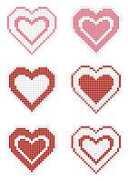 НФ-020. Сердечка на фетрі для вишивки бісером