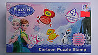 Набор печатей для творчества Frozen в коробке 195*115*35мм,24виды печатей.Набор печатей Холодное Сердце.Печати