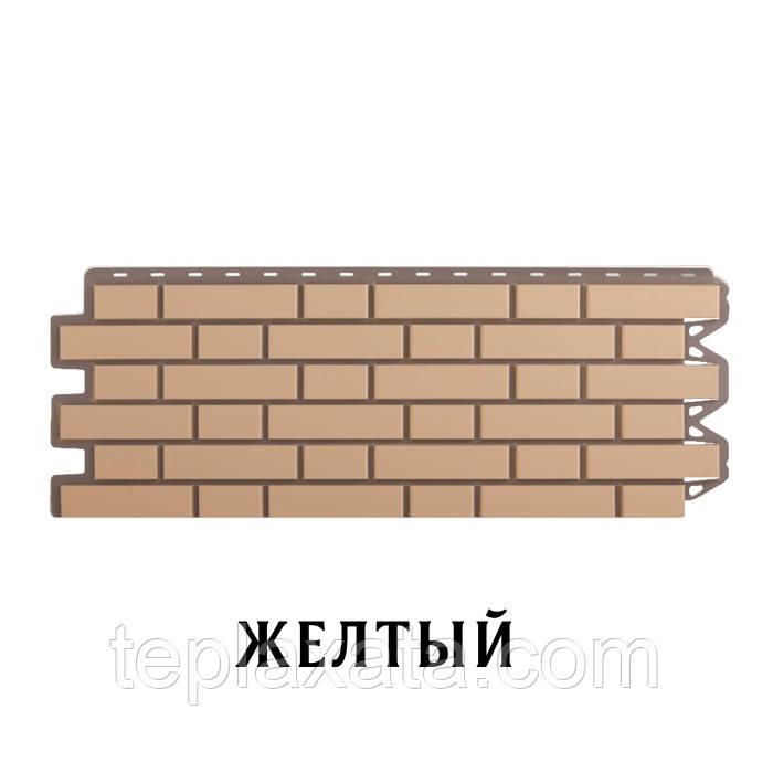 Фасадная панель АЛЬТА ПРОФИЛЬ Кирпич клинкерный Желтый (0,536 м2)