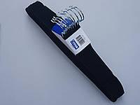 Плечики вешалки тремпеля флокированные (бархатные, велюровые) черного цвета, длина 44,5 см, в упаковке 10 штук
