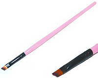 Малая скошенная кисть розовая ручка KVK-00 YRE