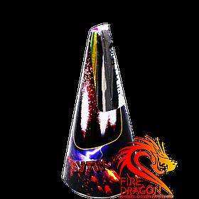 Вулкан VK-4, висота іскор: до 6 м, час: 25, ефект: потужний потік кольорових іскор