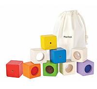 """Деревянная игрушка """"Обучающие кубики"""", PlanToys"""