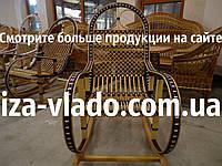 """Кресло-качалка из лозы """"Бук 1 Коричневый Ротанг"""""""