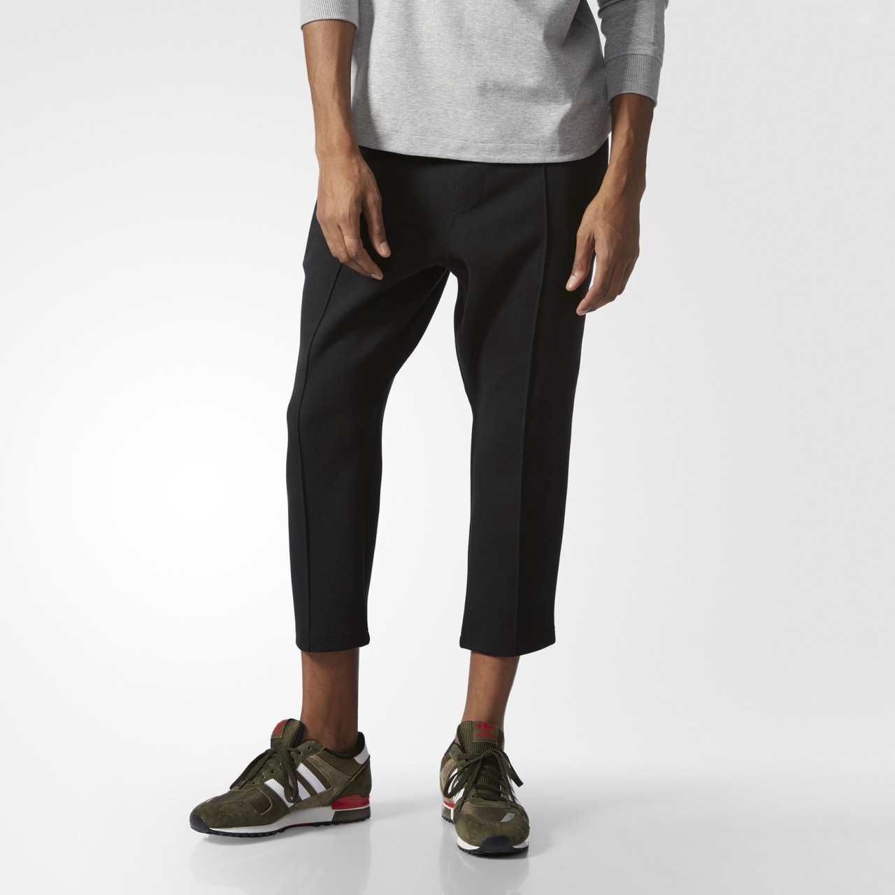 Мужские брюки Adidas Originals Instinct Cropped Pintuck (Артикул  BK0550) -  Интернет-магазин 71f6e5cbad1