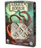 Ужас Аркхема: набор кубиков (кость)  (Arkham Horror Bone Dice Set)