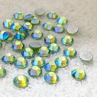Стрази Peridot AB (зелений) SS20 холодної фіксації. Ціна за 144 шт