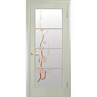 Дверное полотно Новый Стиль Виктория 80см дуб жемчужный с рисунком Р3