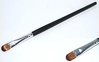 Кисть визажная с деревянной ручкой для век KVP-00 YRE