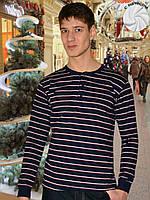 Теплая мужская футболка (кофта) (Синий, серый, красный)
