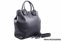 Стильная женская сумка Christian Louboutin кожаная цвет черный