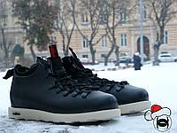 Зимние ботинки Native Shoes Fitzsimmons черные термопрокладка