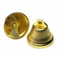 Колокольчик, золото, 26 мм 5 шт.