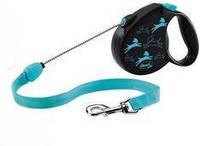 Flexi (Флекси) Рулетка для собак и кошек Color, голубая S1 5м*12кг