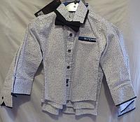 Детская рубашка на мальчика ( 3 цвета; 1-4 года; про-во Турция)