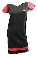 Платье женское брошка перфорация