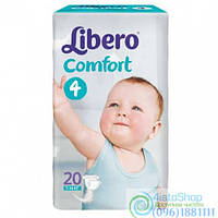 Подгузники Libero Comfort 4 Maxi От 7 До 14 Кг 20 Шт