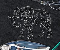 Аппликация, наклейка из страз на ткань Слон (2мм-гем., 3мм-гем.,4 мм-гем.) Стекло, 32.2, Стразовая, 2мм-гем., 3мм-гем.,4 мм-гем., 43