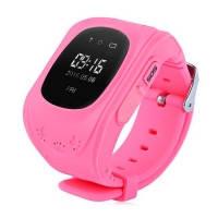 Детские смарт часы-телефон с GPS-трекером Q50 розовые