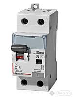 Legrand дифференциальный автомат Legrand Dx3 16 А, 230 В, 2 п., Тип C, 10 mA (410993)