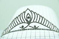 Высокая диадема для сказочных принцесс. Бижутерия для торжественной причёски оптом. 99