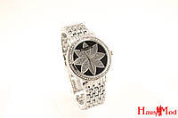 Женские часы Bvlgari SSB-1003-1017 (копия) серебристые с черным
