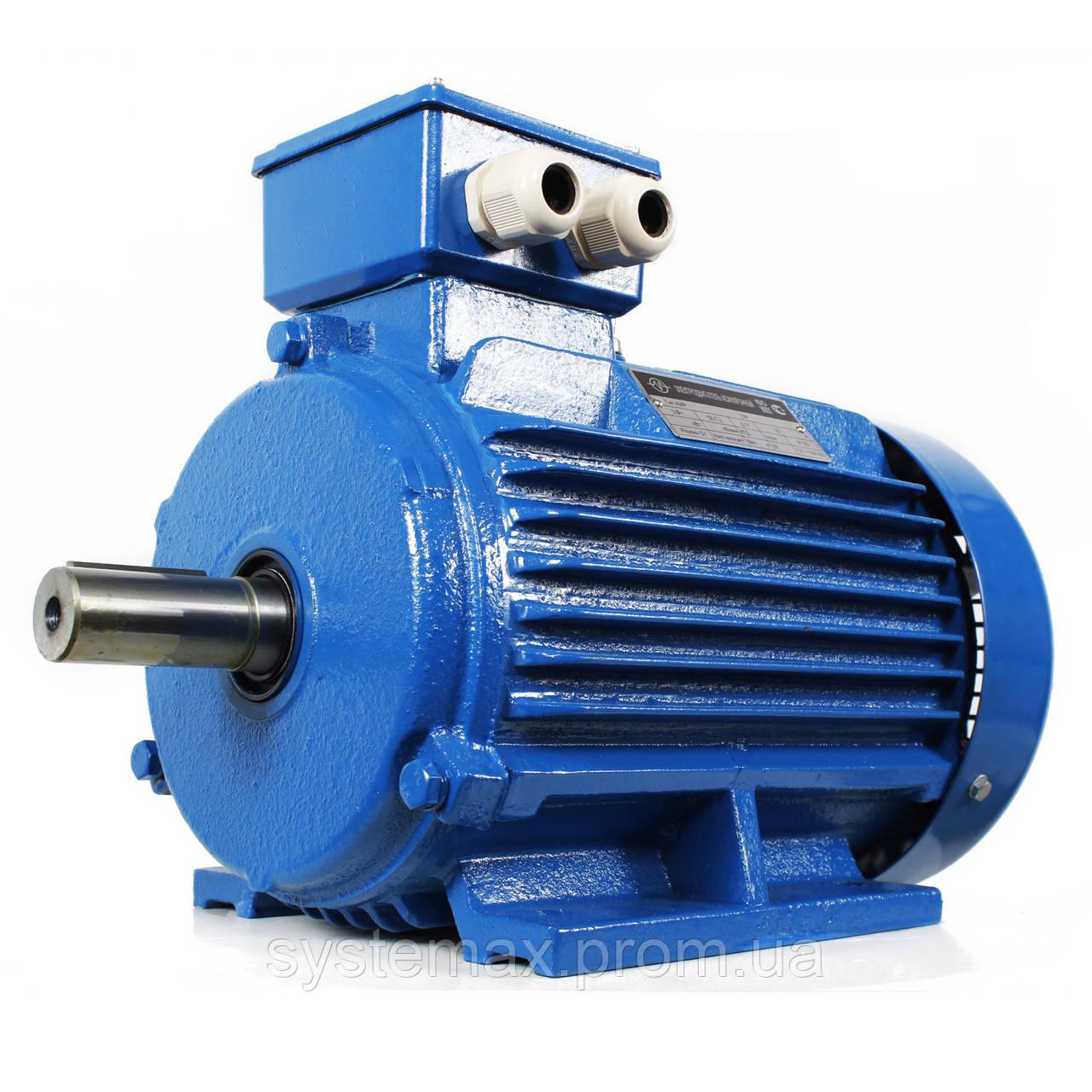 Електродвигун АИР160Ѕ8 (АІР 160 S8) 7,5 кВт, 750 об/хв