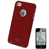 Чехол накладка пластиковая Moshi для iPhone 4 красный