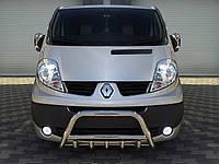 Защита переднего бампера (кенгурятник) Renault Trafic