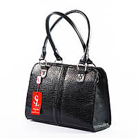 Женский классический портфель черная деловая сумка