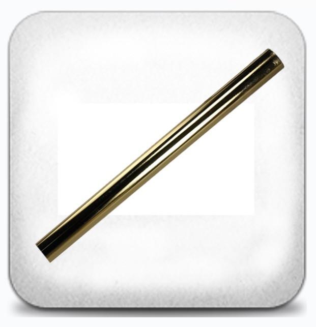 Труба гладкая 1,6м д.25мм золото