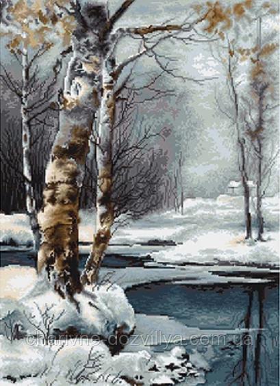 """Набор для вышивания крестиком (пейзаж) """"Зима"""""""