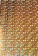 Картон Золотой с Голограммой 240 гр/м2 20x30 см А4 1 шт