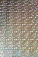 Картон Серебряный с Голограммой 240 гр/м2 20x30 см А4 1 шт