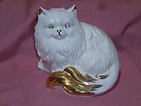 Кот белый фарфоровый фигурка статуэтка сувенир 13 см. высота