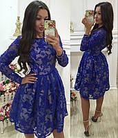 Нарядное платье с вышивкой и пайетками