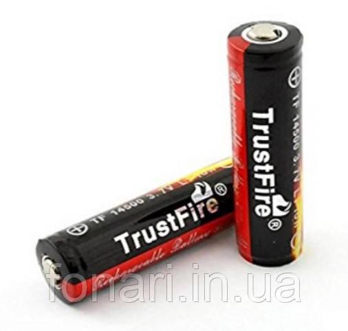 Аккумулятор TrustFire 14500 Li-Ion 900 mAh 3,7V защищенный
