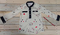 Модная рубашка на девочку 128 см, 134 см
