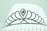 Украшение для торжественной причёски. Высокая диадема с алмазом. 102
