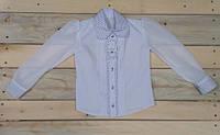 Модная блузка на девочку белая 116 см, 122 см, 128 см, 134 см