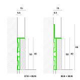 Алюминиевый плинтус с деревяной отделкой 88/6+87/6 Орех, фото 2