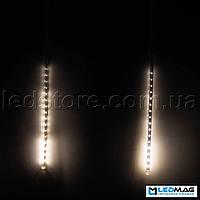 Светодиодная гирлянда Падающая капля (тающая сосулька), 8шт*50см, 3,7м 384 LED, ПВХ Теплый белый