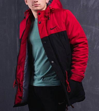 Мужская зимняя парка Nike черно-красная топ реплика  продажа, цена в ... d7d1413eb70