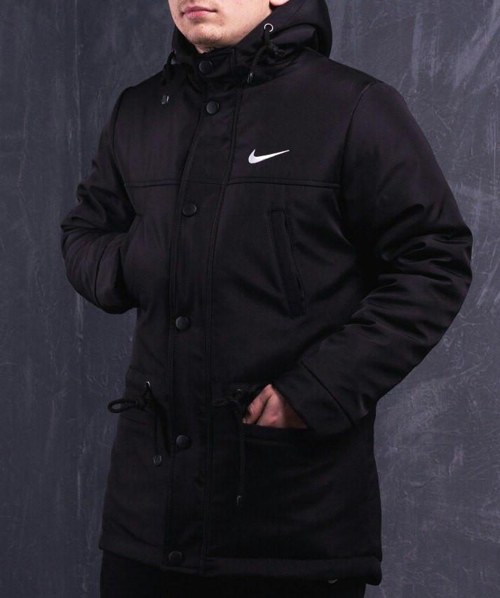 bf01794f Мужская зимняя парка Nike черная топ реплика: продажа, цена в Киеве ...