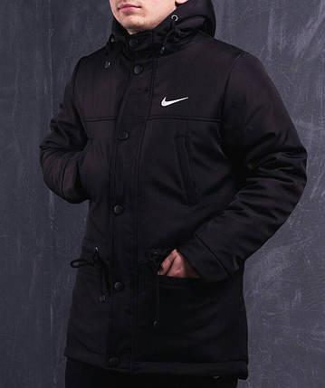 a82c6542 Мужская зимняя парка Nike черная топ реплика: продажа, цена в Киеве ...