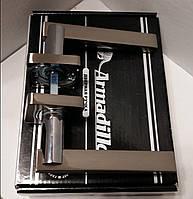 Ручка раздельная ARMADILLO ORBIS SQ004-21SN/CP-3 матовый никель/хром
